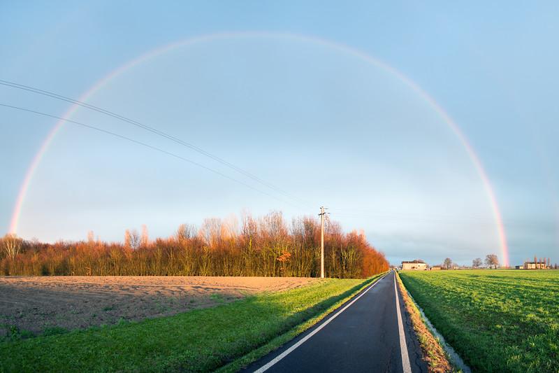 Rainbow - Via Carlo Ruini, Reggio Emilia, Italy - March 13, 2013
