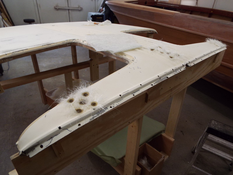 View from the starboard side with new glass filling the ground out holes.