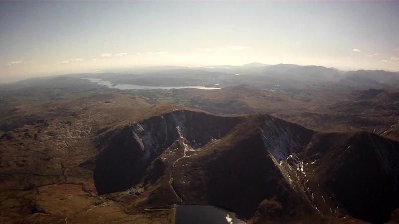 The twin corries overlooking Kentmere reservoir.