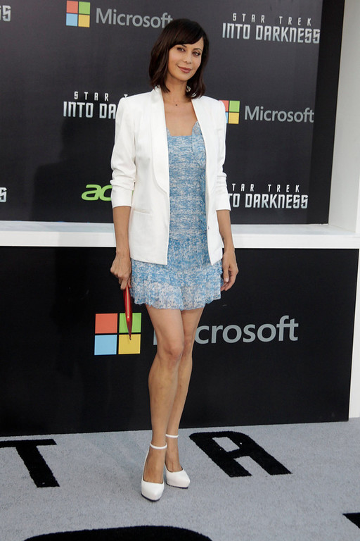 """. Actress Catherine Bell, arrives as a guest  at the premiere of \""""Star Trek Into Darkness\"""" in Hollywood May 14, 2013. REUTERS/Fred Prouser"""