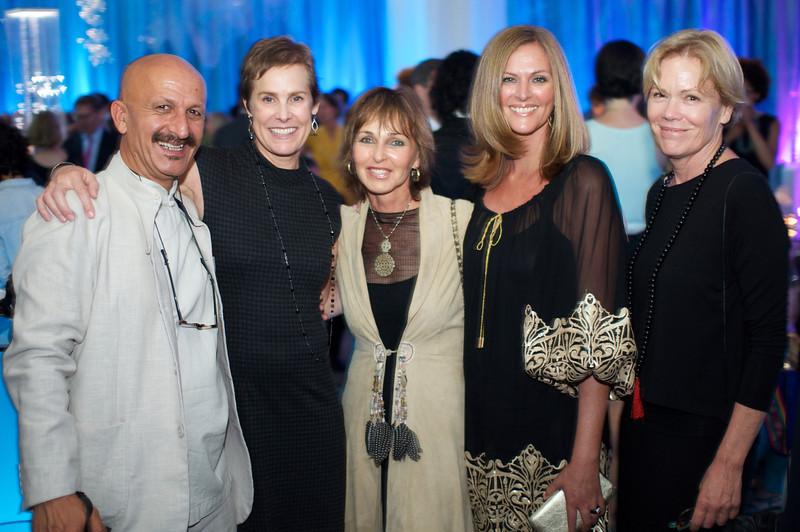 R-L Nancy Heritage, Susan Kelly, Beverly Doubent, Lisa Truitt,  Reza,  National Geographic Society, Evening of Exploration. Thursday June 14, 2012. Presented by Rolex, Photo by Ben Droz.
