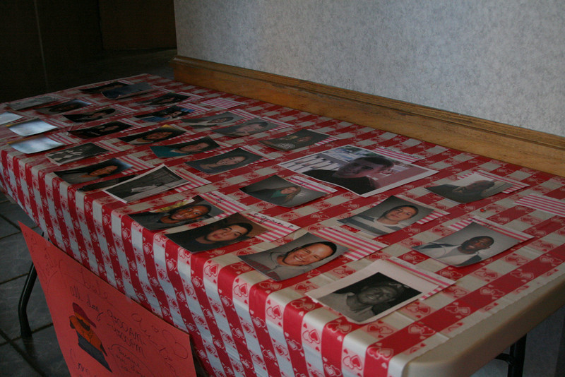 Candidates for the Valentine Auction await bids outside the Caf on Thursday.