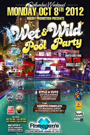 10/08/12 Wet N Wild Pool Party