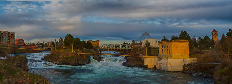 Spokane falls on the way home