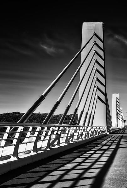 """Don't cross the bridge til you come to it."" — Henry Wadsworth Longfellow, St. Croix River Bridge"