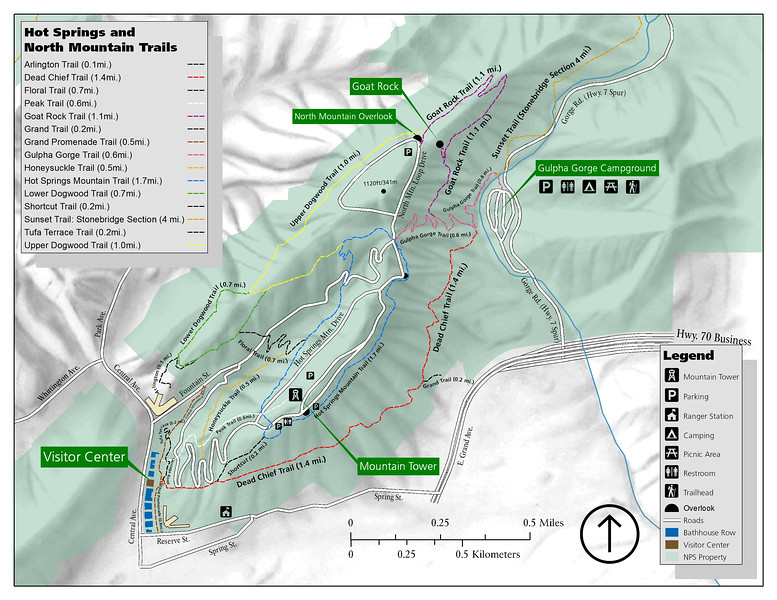 Hot Springs National Park (North Mountain Trails)