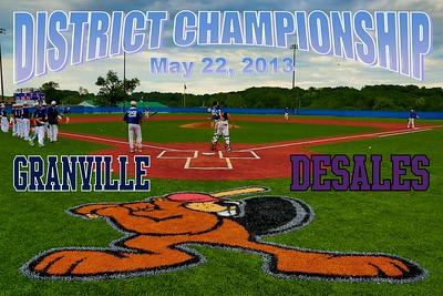 2013 Granville vs DeSales (05-22-13) DISTRICT CHAMPIONSHIP