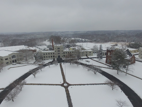 The Campus in Snow