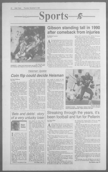 Daily Trojan, Vol. 113, No. 47, November 08, 1990