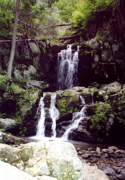 Shenandoah National Park Hiking Trails include plenty of waterfalls. Include a trail in your Virginia travel itinerary.