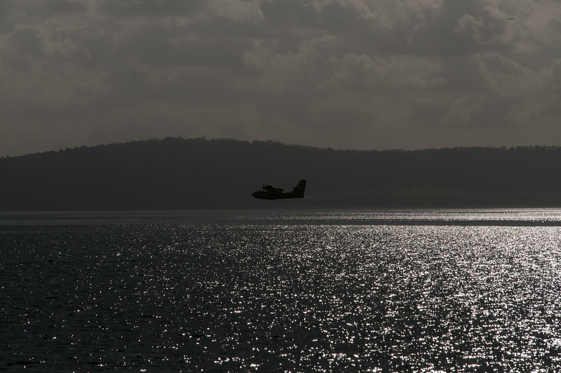 Fireplane over Bracciano, Italy