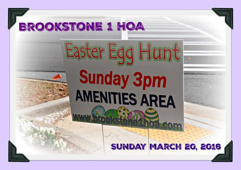 Brookstone 1 HOA Easter 2016