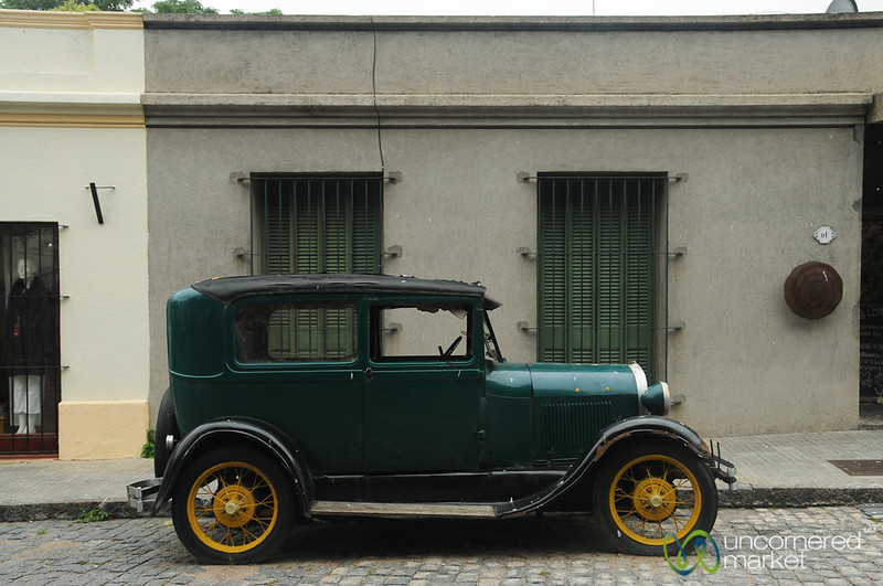 Classic Car in Colonia, Uruguay