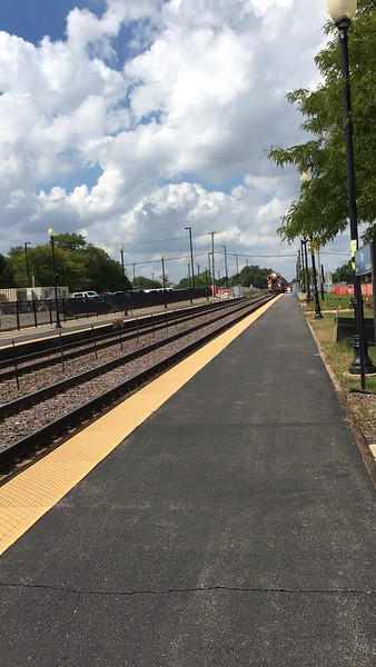 Tåget från Cary till Park Ridge Chicago
