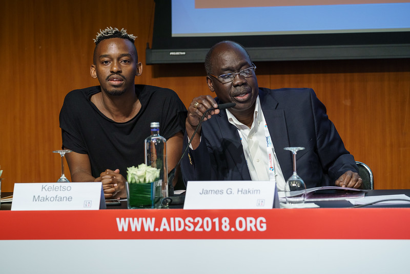 22nd International AIDS Conference (AIDS 2018) Amsterdam, Netherlands.   Copyright: Matthijs Immink/IAS Regional Members' Meeting for Africa Photo shows: Keletso Makofane  James Hakim