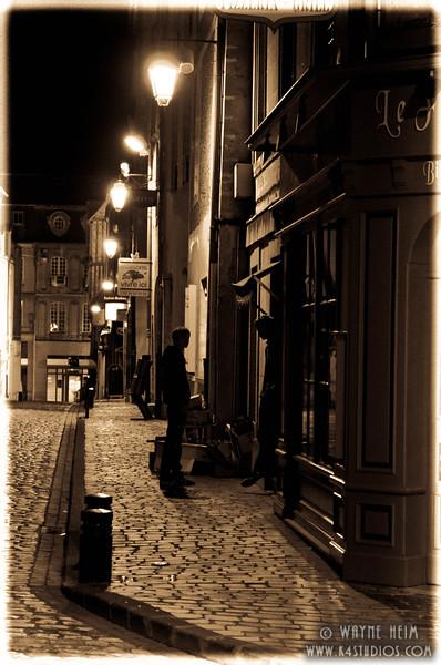 Paris Street at Night  4  Photography by Wayne Heim