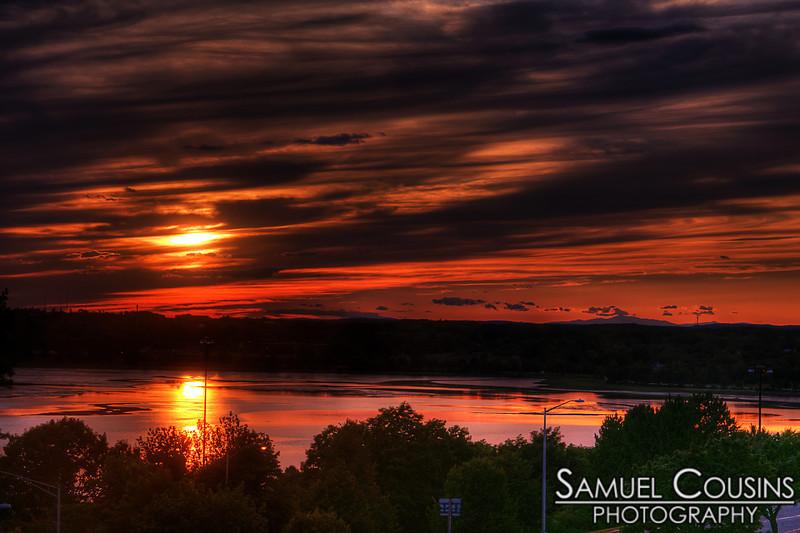 Sunset over Back Cove in Portland, Maine. Taken from Fort Sumner Park.