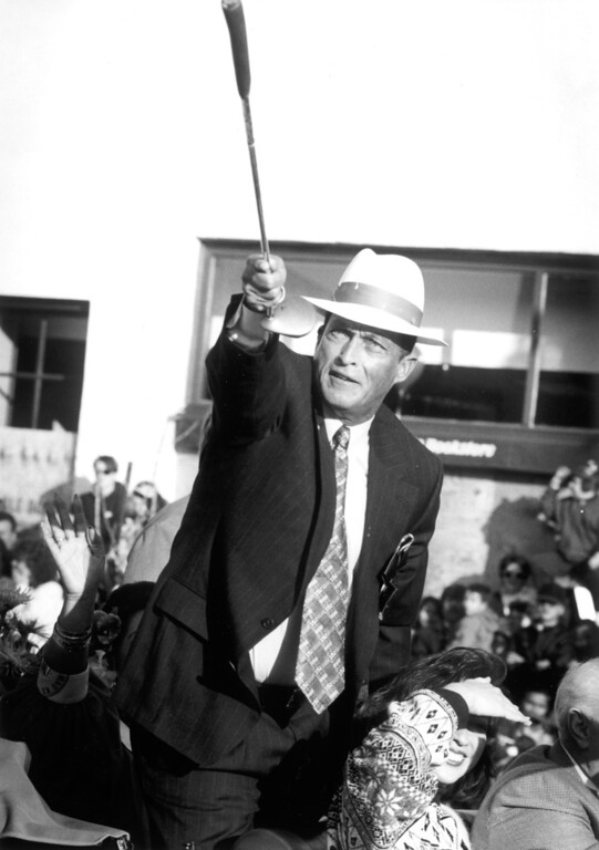 ". 1995 Rose Parade grand marshal, Juan ""Chi Chi\"" Rodriguez .   L.A. Daily News file photo"