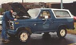 1980 Ford Bronco.  I bought this from Uncle Sam at a GSA action.  I didn't pay much for it.