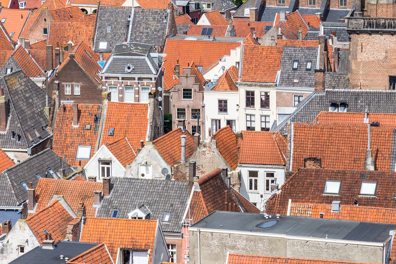 Zutphen gezien vanaf de Walburgtoren