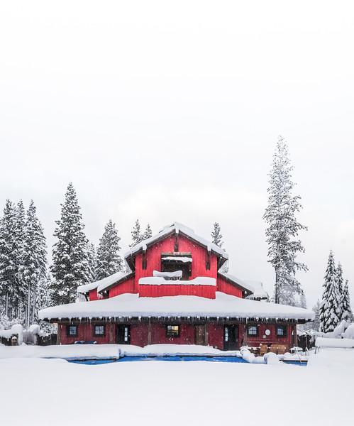 Martis Camp Family Barn Snow Vert