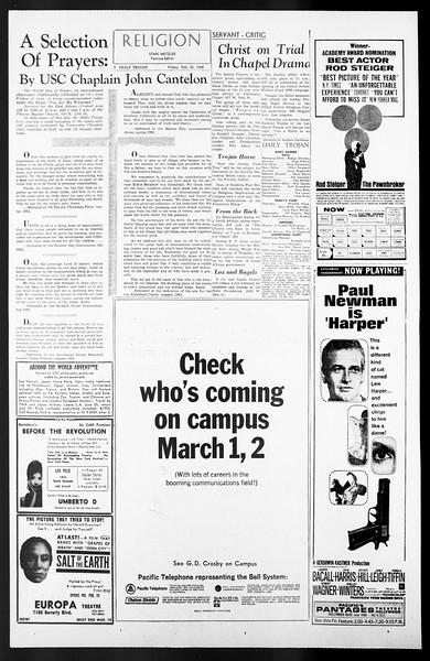 Daily Trojan, Vol. 57, No. 76, February 25, 1966