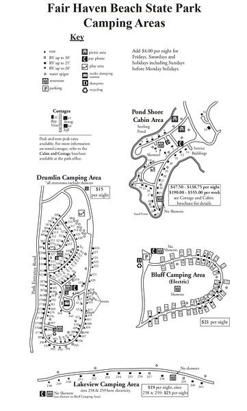 Fair Haven Beach State Park (Campground Maps)