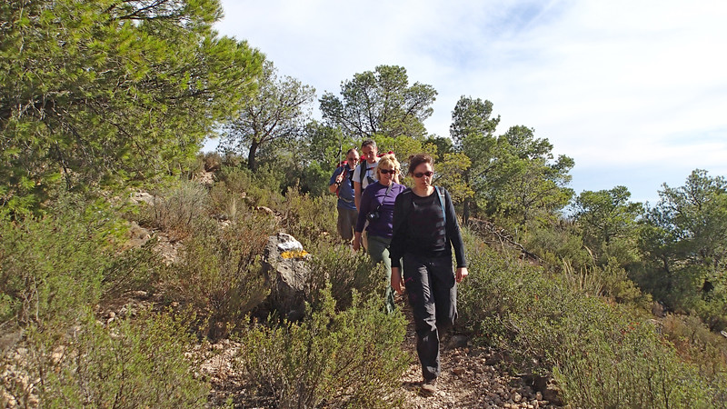 Hiking back from the Cabezon de Oro