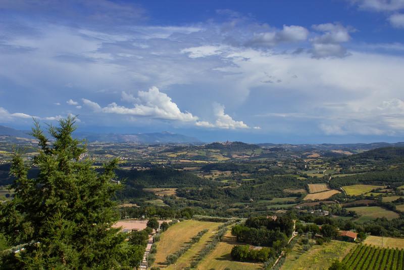 Todi from Monte Castello di Vibio