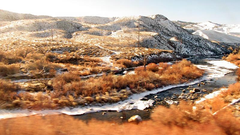 Amtrak's California Zephyr - Nevada to California  - January 15, 2016