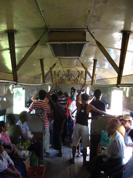 Inside the train which is more than 50 years old