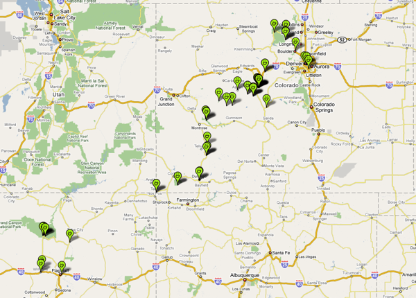 Colorado trip geolocated