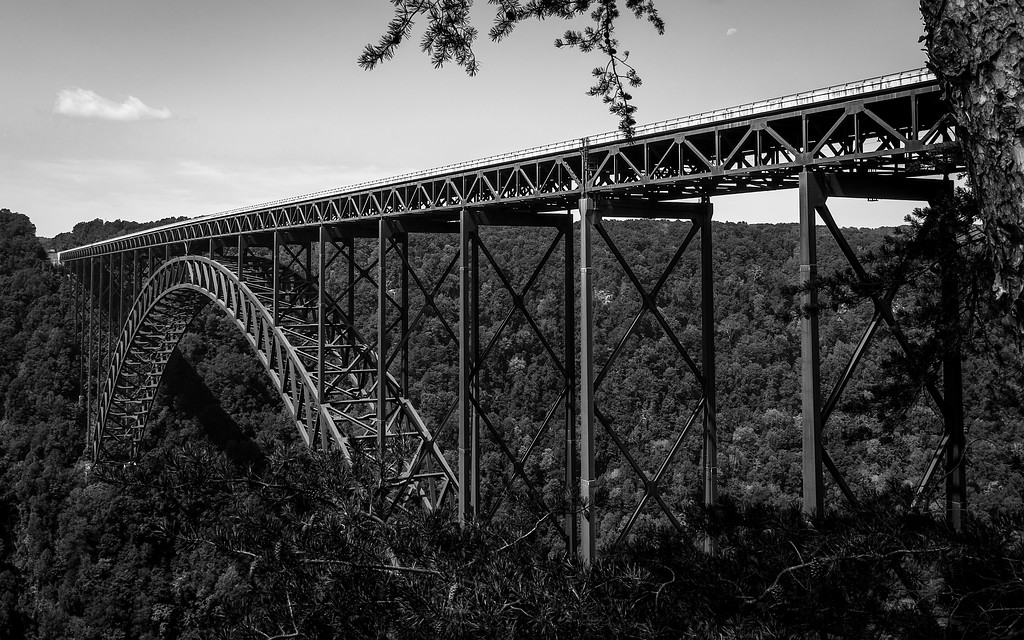 New river Gorge Bridge BW
