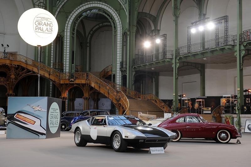 . A vintage Chevrolet Corvette car is displayed  during an exhibition, by Bonhams auction house, at Le Grand Palais on February 5, 2014 in Paris, France.  (Photo by Antoine Antoniol/Getty Images)