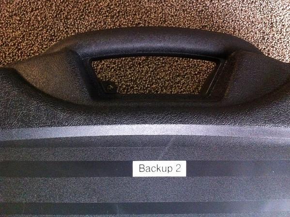 Backup drive case