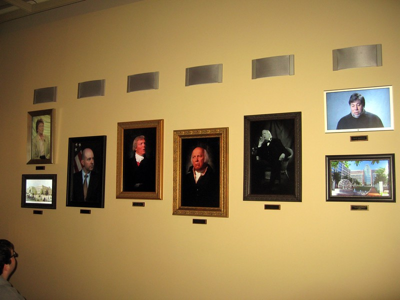 Interactive Portrait Gallery in the National Inventors Hall of Fame and Museum, at the U.S. Patent and Trademark Office (3/9/11)