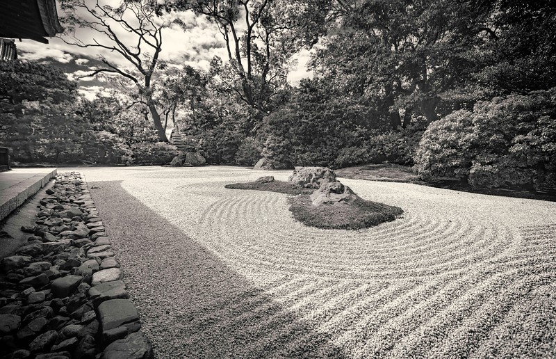 Rock Garden at the Kenninji Temple in Kyoto.