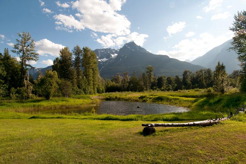 View from Tweedsmuir Park Lodge, Tweedsmuir Provincial Park, near Bella Coola, BC.