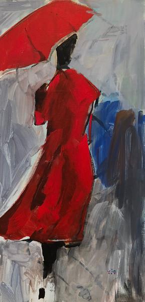 Le manteau rouge 12 X 24 Acrylic