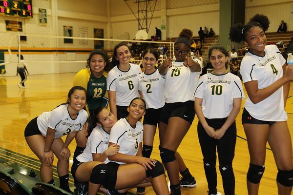 Varsity Girls Volleyball vs. Clarksburg HS 10--3-2019