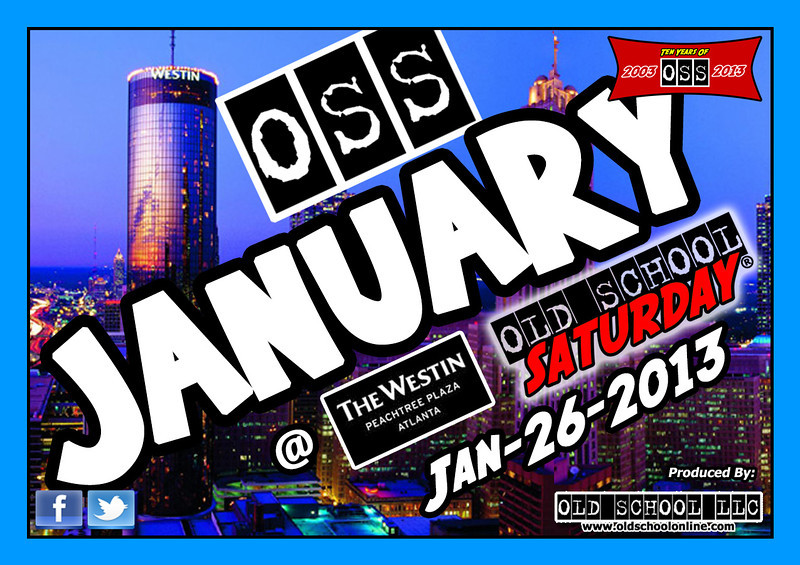 We kick off our TEN YEAR ANNIVERSARY season Jan-26-2013 @ The Westin Peachtree Plaza. Thanks for all your support since 2003.  Info & tickets: www.oldschoolsaturday.com