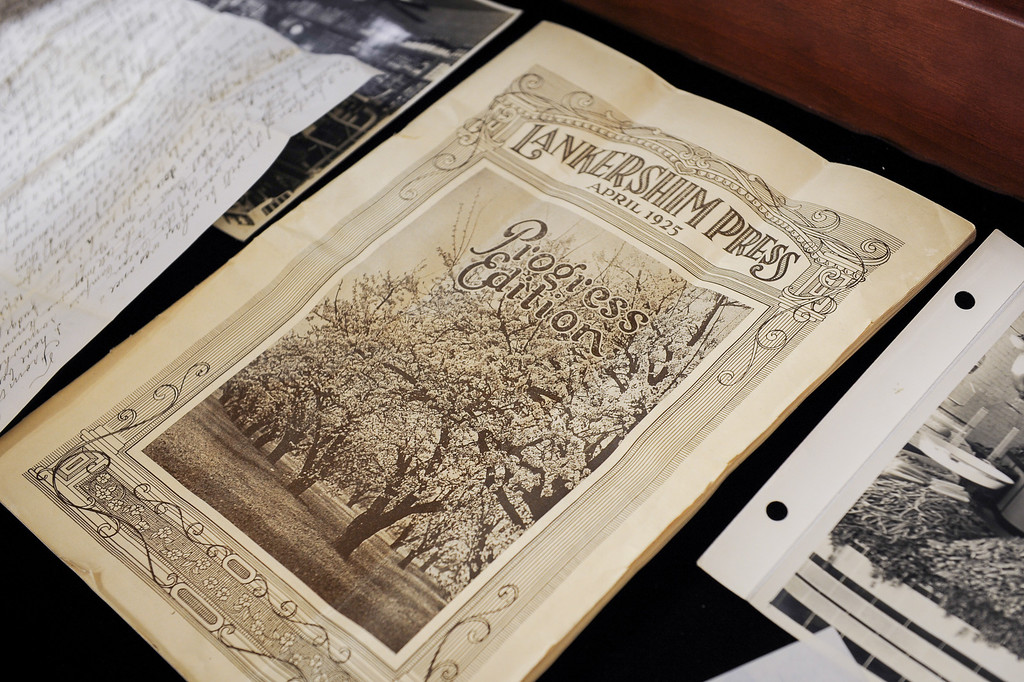 . A 1925 copy of the Lankershim Press at Valley Relics Museum. (Photo by Michael Owen Baker/L.A. Daily News)