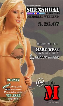 2007-05-26 [Shenshual Saturdays, Club M, Fresno, CA]