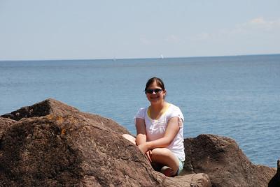 2009 06 20:  Federica, Carla, Rocks and Lake Superior