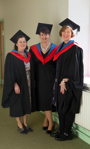 02/11/2016. Waterford Institute of Technology (WIT) Conferring Ceremonies November 2016. Pictured are Betty O'Brien, Conna, Cork, Elaine Clifford from Killarney and Ursula Melia from Dublin who graduated in Arts in Literacy Development. Picture: Patrick Browne