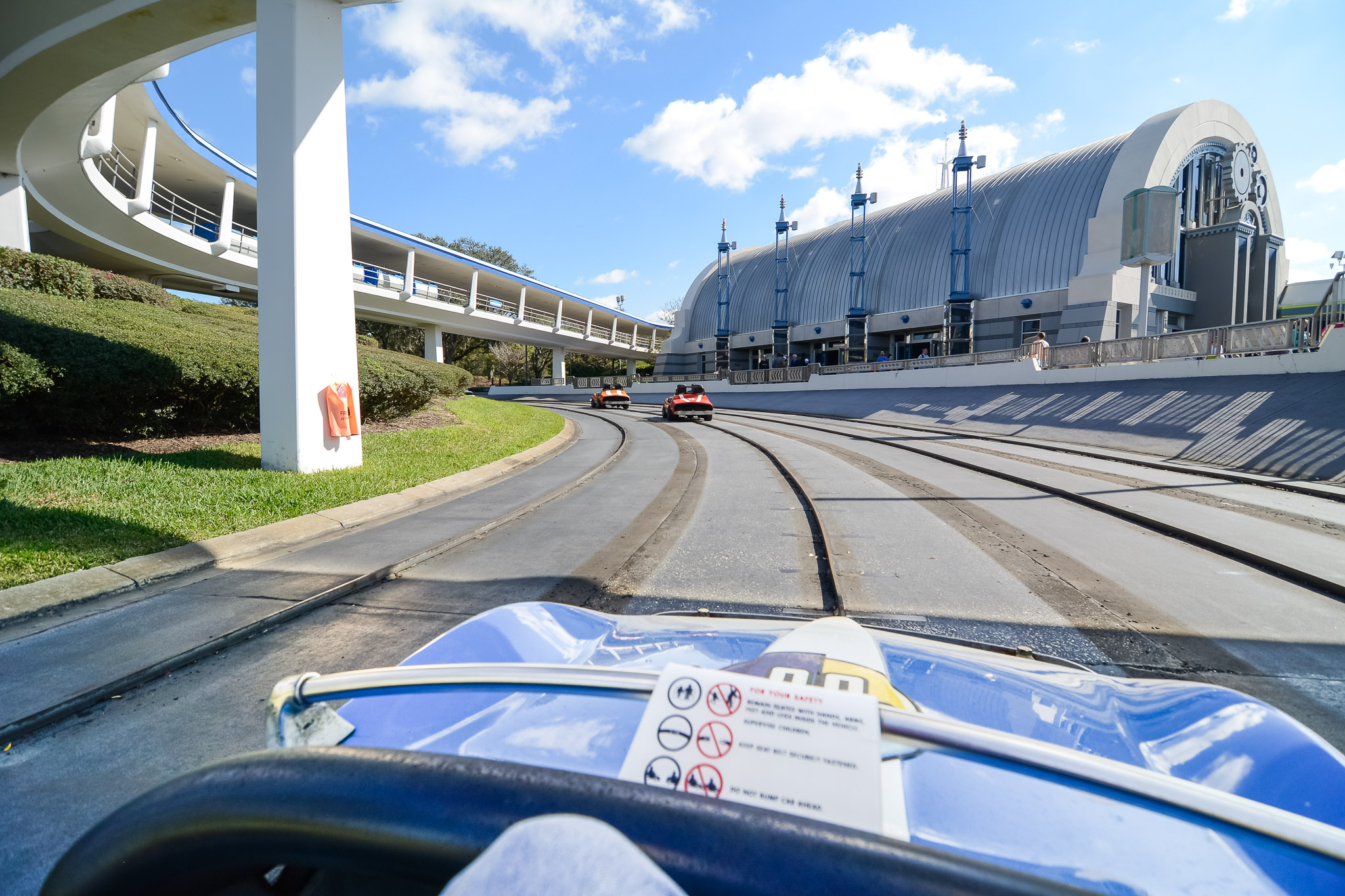 Tomorrowland Speedway Car - Walt Disney World Magic Kingdom