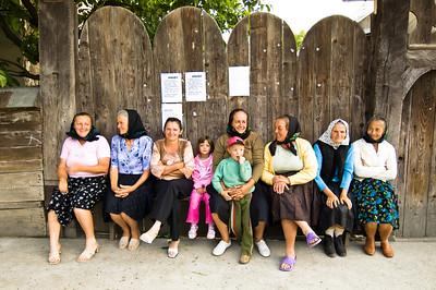 Europe, Romania, Maramures, local women chatting in Bogdan Voda