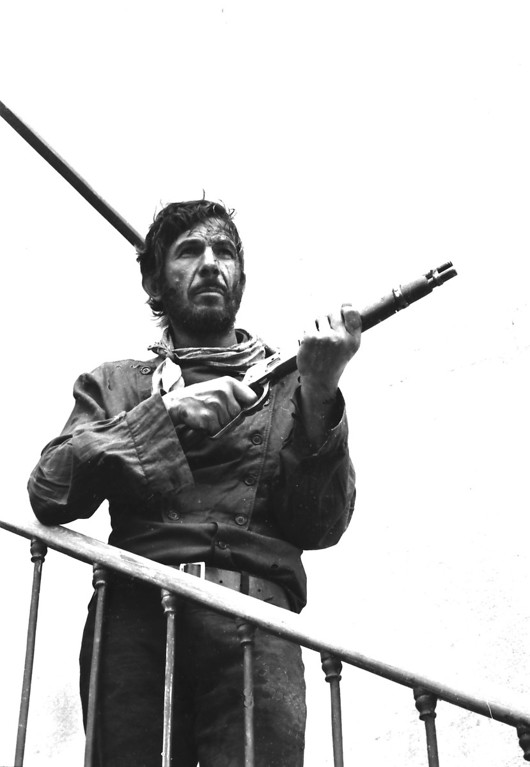 . American actor Leonard Nimoy during the filming of the movie \'Catlow\',1971 Almeria, Spain. (Photo by Gianni Ferrari/Cover/Getty Images).