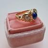 1.75ctw Cab Sapphire and Old European Cut Diamond 3-stone Ring 37