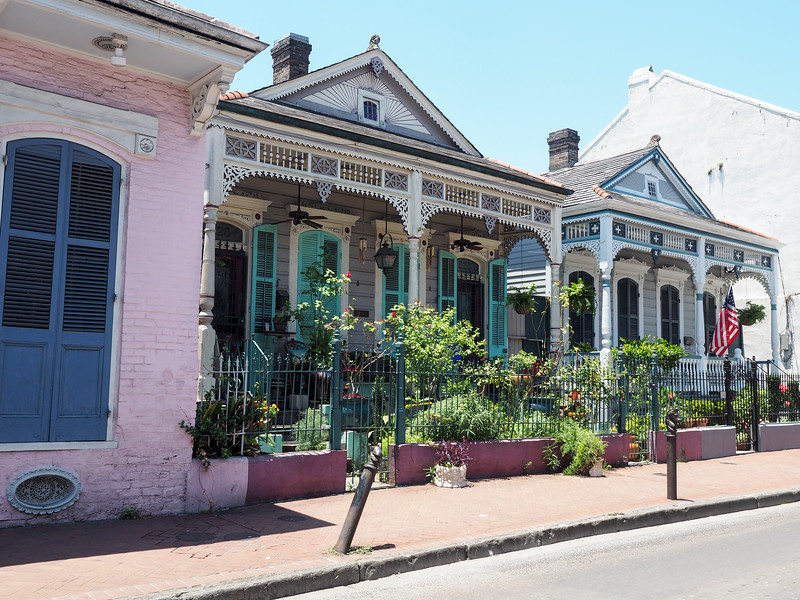 Architecture in the French Quarter in New Orleans